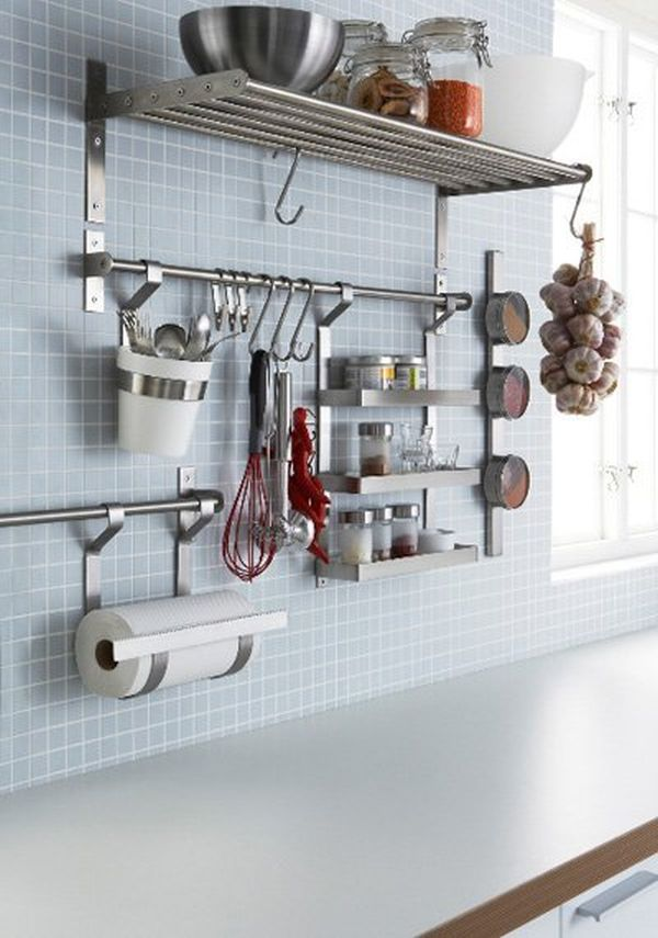 Kitchen Organizer Rack Part - 30: Wall Storage.