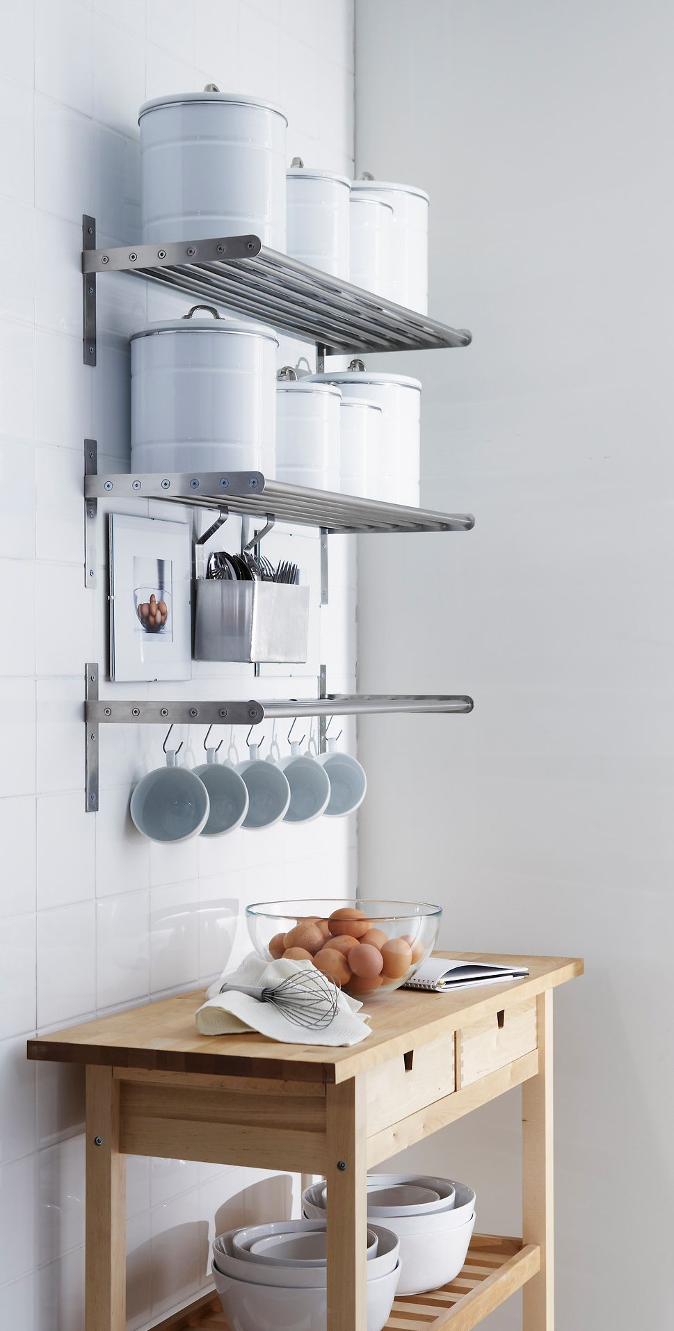65 ingenious kitchen organization tips and storage ideas rh homedit com kitchen storage shelves ideas hanging storage shelves kitchen