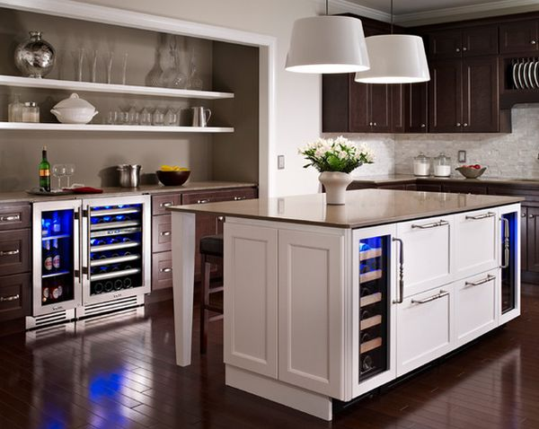 undercounter refrigerators the new must have in modern kitchens rh homedit com  wine refrigerator in kitchen island