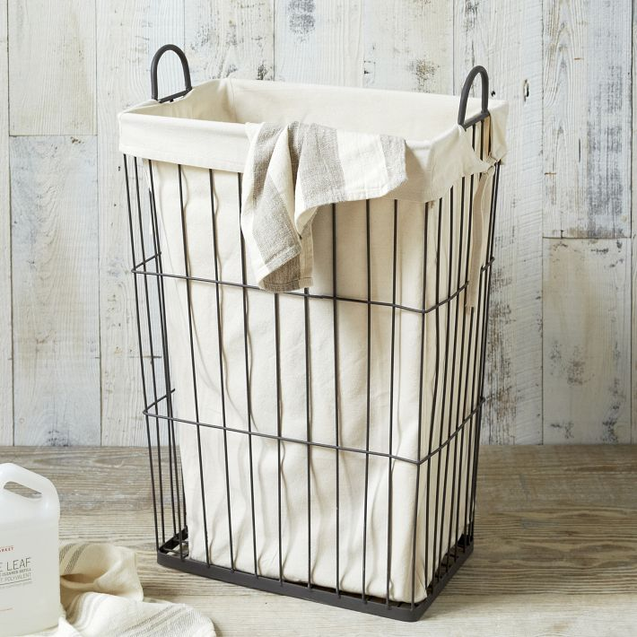 Sort your laundry in style with these attractive laundry for Arredamento industrial chic