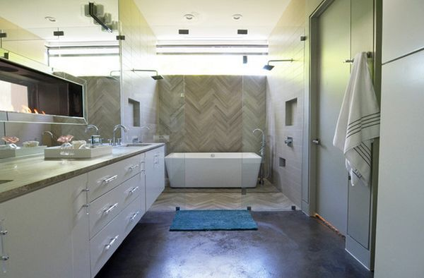 How you can make the tub shower combo work for your bathroom for Narrow master bathroom floor plans