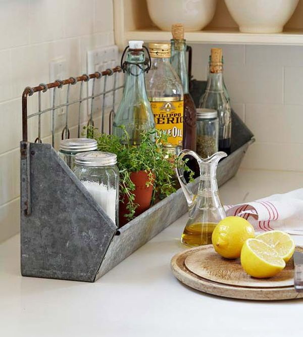 Attractive Kitchen Countertop Storage Ideas Part - 2: 65 Ingenious Kitchen Organization Tips And Storage Ideas