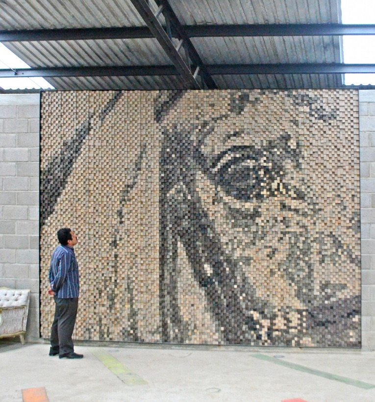 12 Breathtaking Art Projects Made From Thousands Of Unusual Pieces