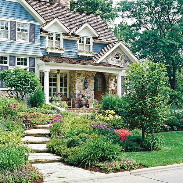 front yard flower garden plans. home decorating trends \u2013 homedit front yard flower garden plans