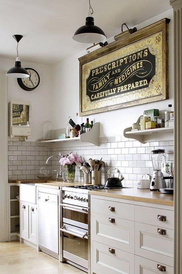 View In Gallery Keep A Small Kitchen Simple With White Tiles ...