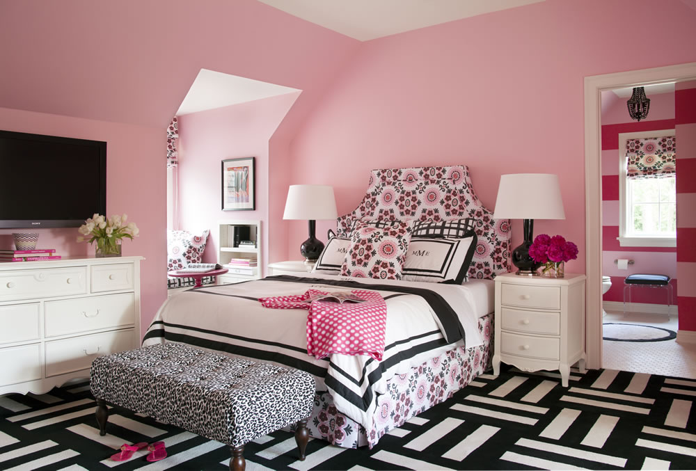 pink bedroom images eclectic cottage home with a vibrant yet balanced color 12842