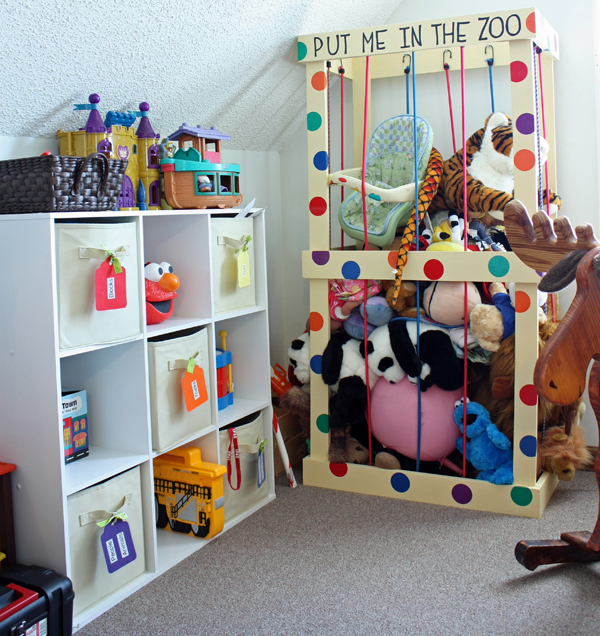 Closet Toy Storage Ideas   Stuffed Animal Storage Ideas Create Your Own  Little Zoo Good Ideas