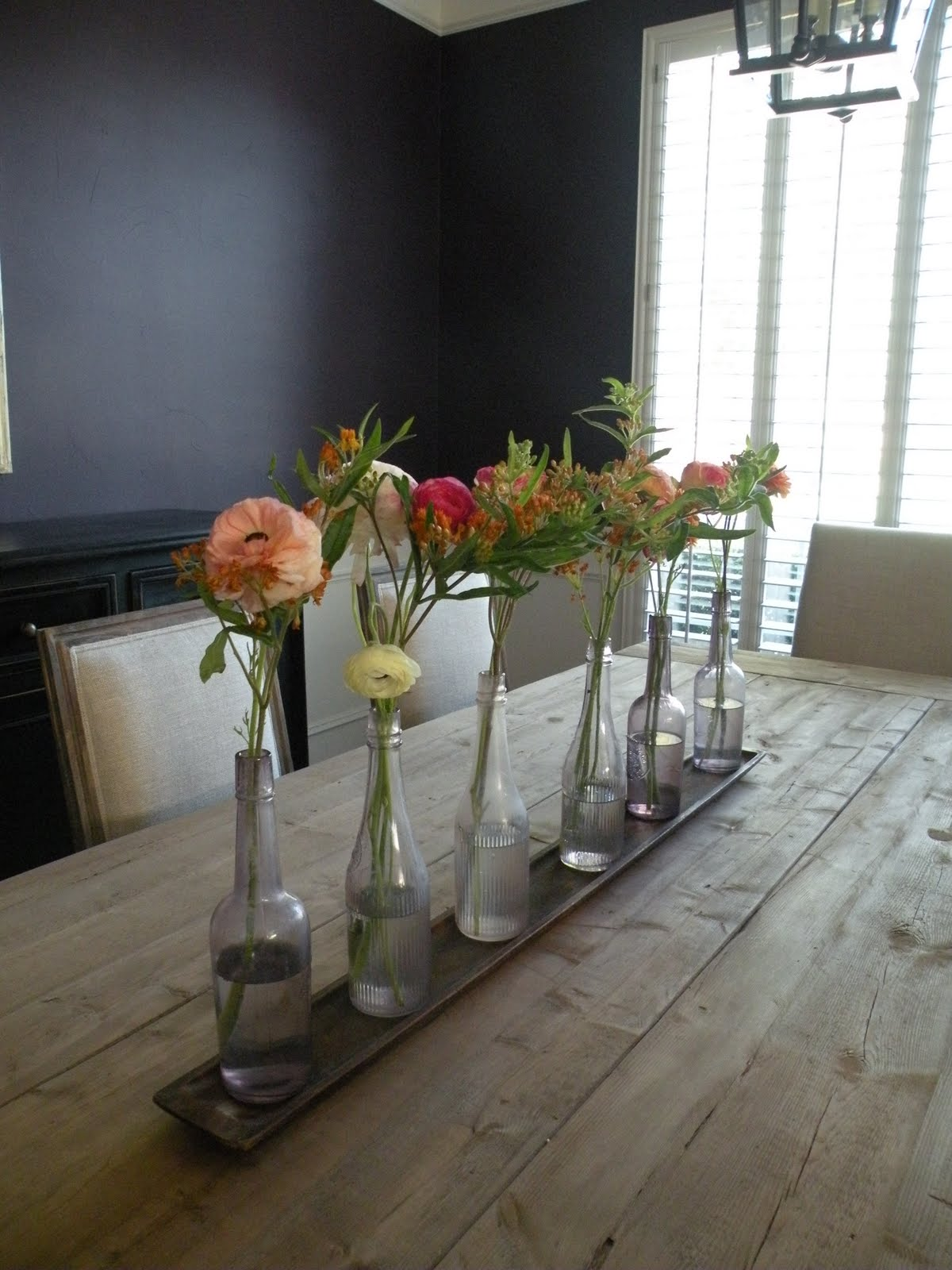 Dining table centerpiece - Re Purposed