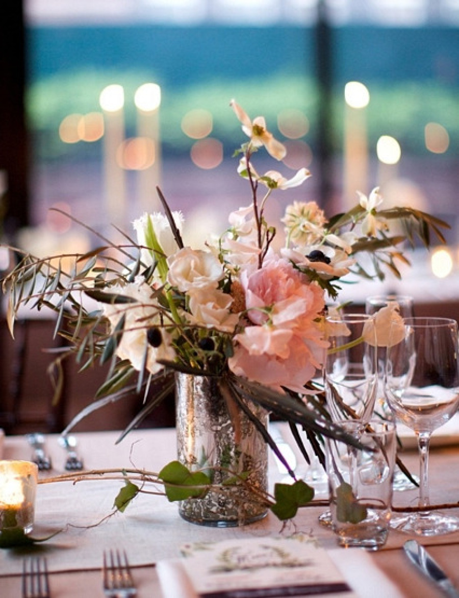 Mercury Glass Wedding Centerpieces.