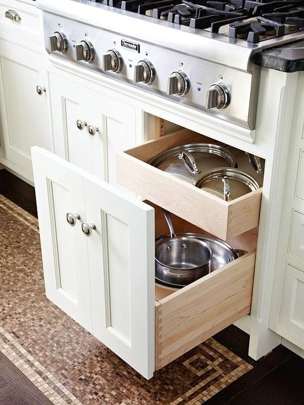 Pot lid storage 65 Ingenious Kitchen Organization Tips And Storage Ideas. Kitchen Drawer Design Ideas. Home Design Ideas