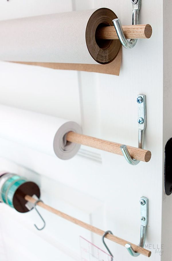 Craft Paper Roll Wall Mount