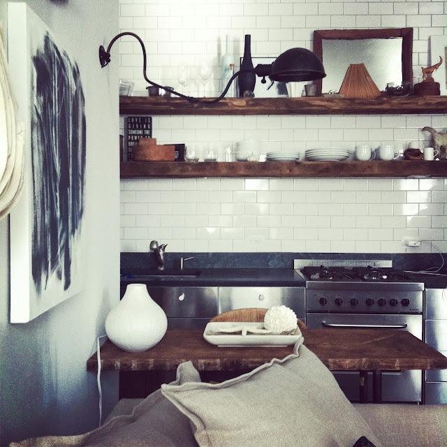 Wooden Shelves.