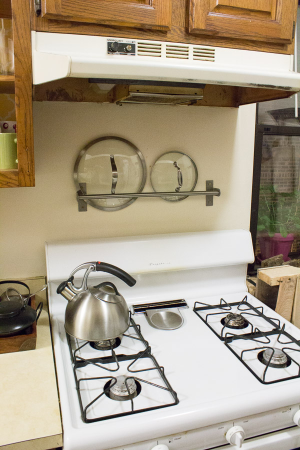 Good Kitchen Towel Storage Ideas Part - 13: Pot Lid Storage.