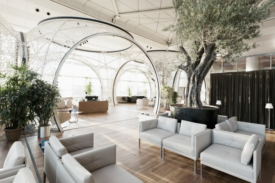Spectacular airport lounges around the globe impress with their
