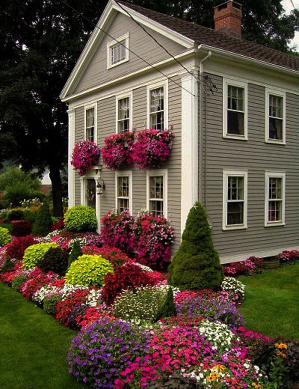 Flower Garden Ideas In Front Of House Curb appeal 20 modest yet gorgeous front yards 16 window boxes workwithnaturefo