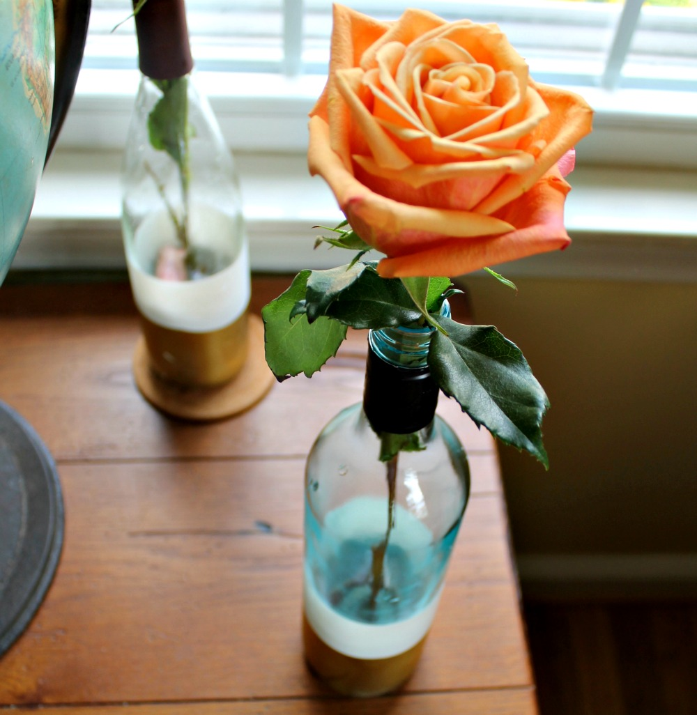 wine bottle painted vases