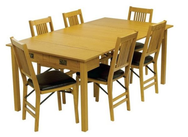Mission Style Dining Room Table With A Butterfly Pull Out