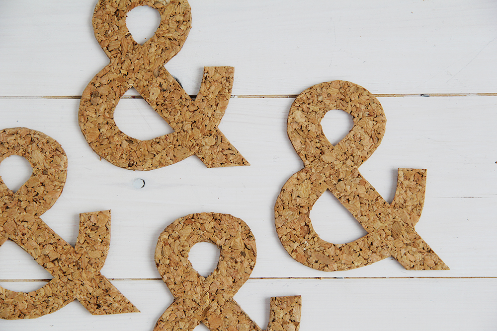 Ampersand Cork Coasters four