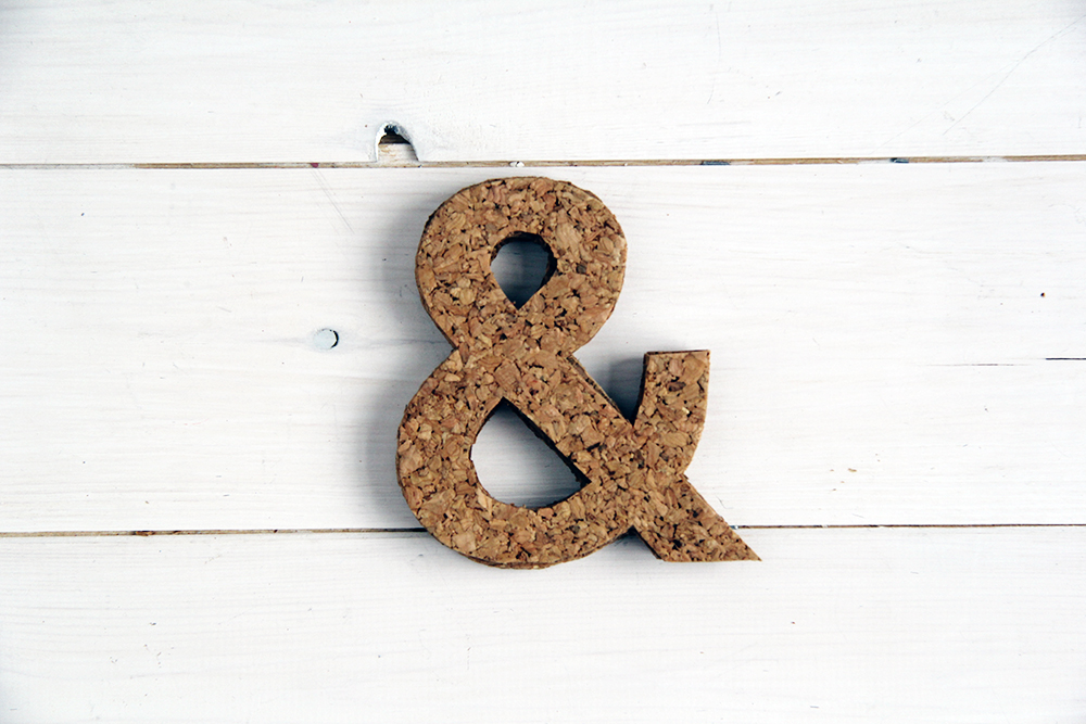 Ampersand Cork Coasters in one