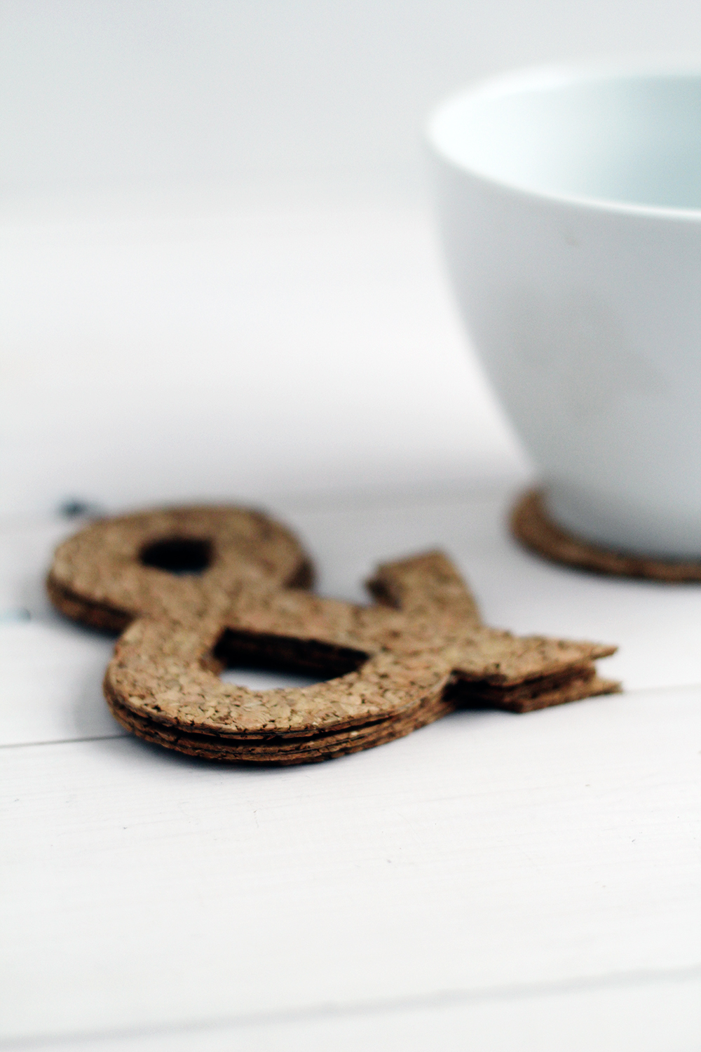 Ampersand Cork Coasters portrait