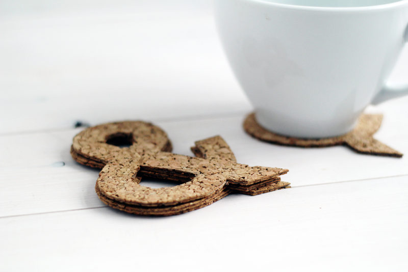 DIY Ampersand Symbol Cork Coasters