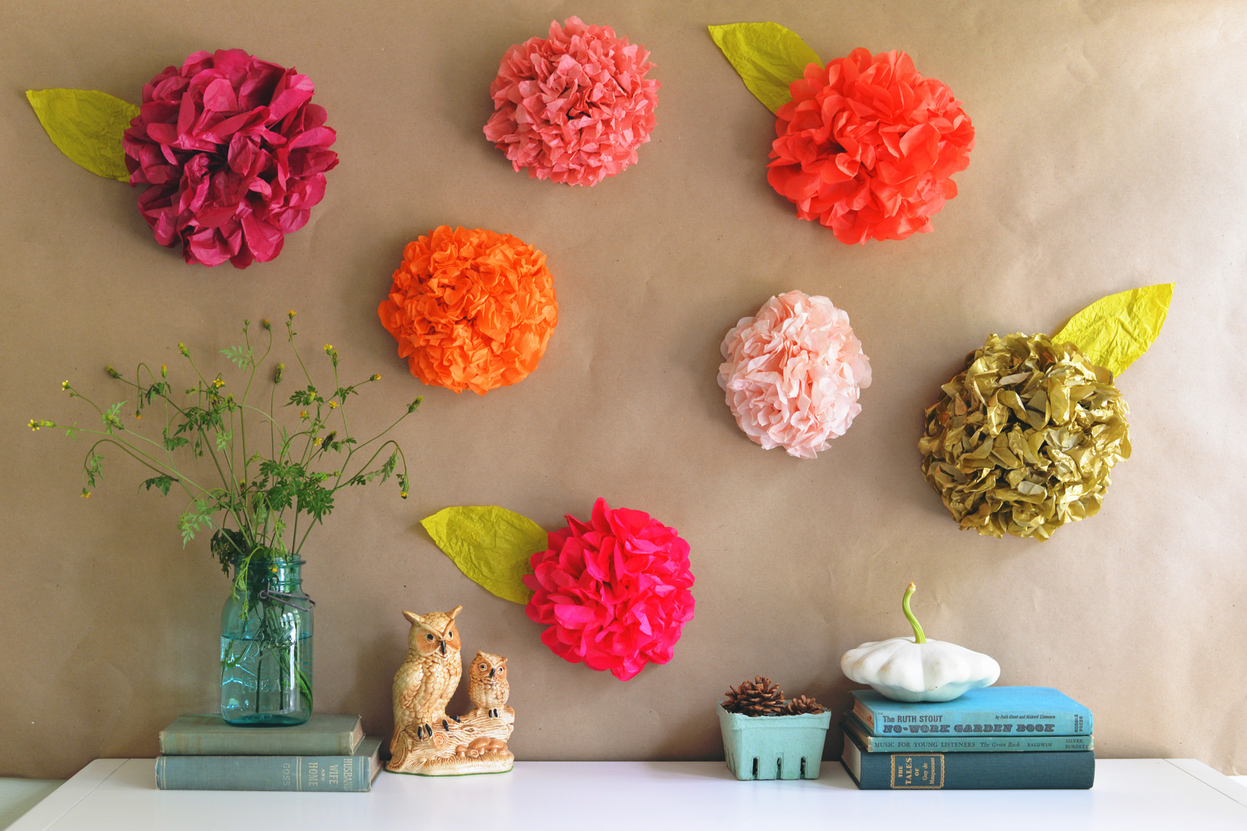 Diy tissue paper flower backdrop mightylinksfo