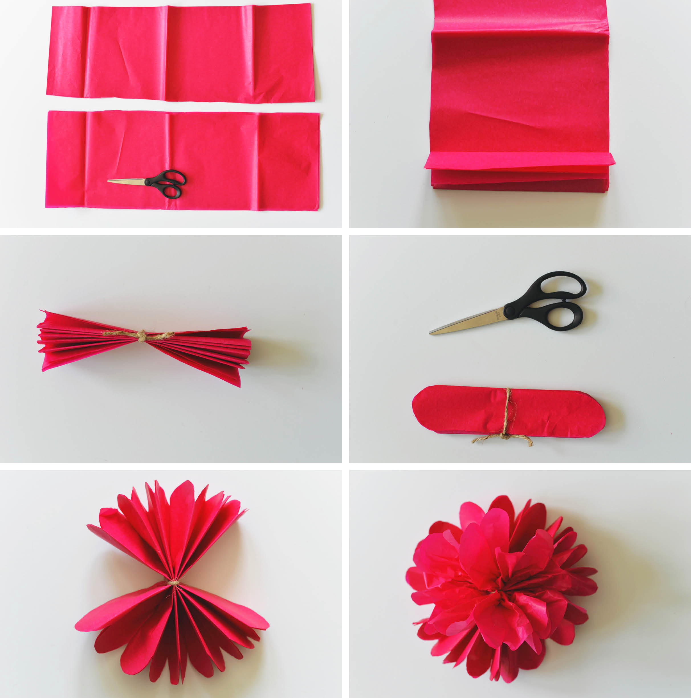 Tissue Paper Flower Making Step By Step Juvecenitdelacabrera