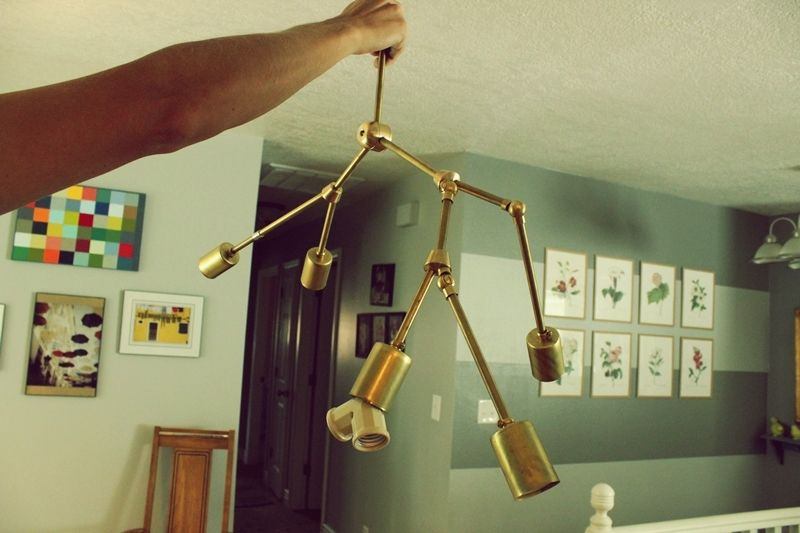 Diy brass chandelier view in gallery aloadofball Images
