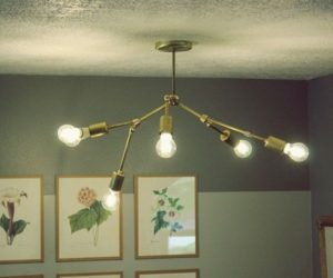 DIY Brass Chandelier