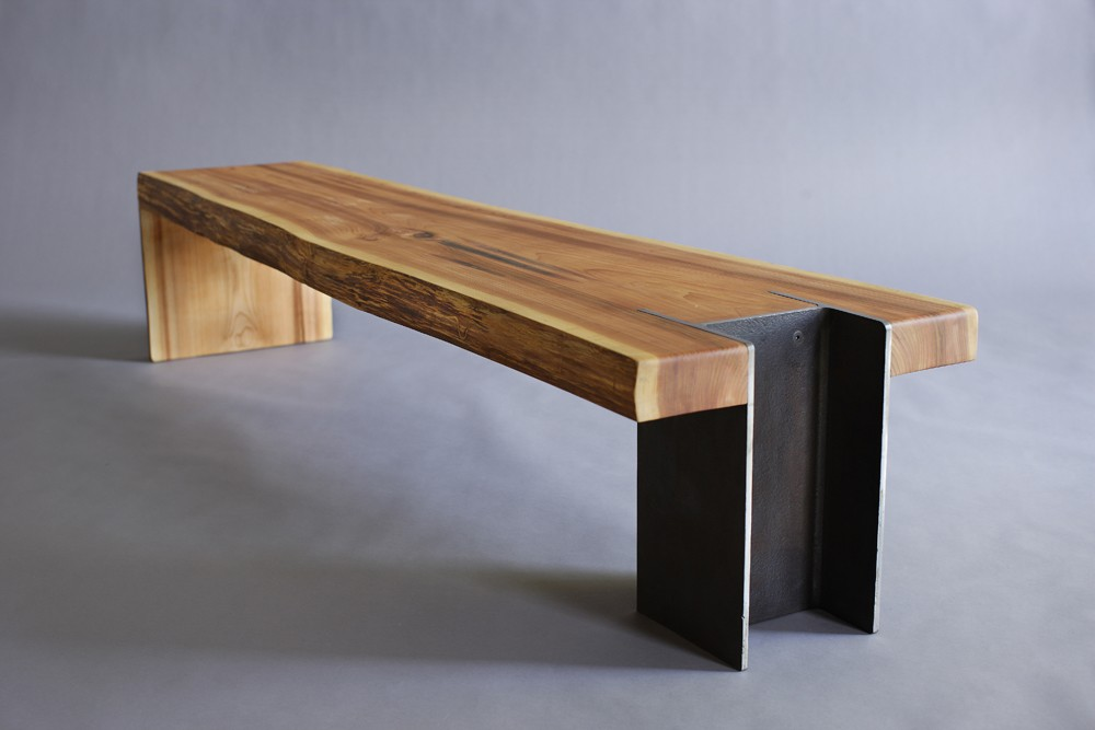10 Unique Pairings Of Materials Revolving Around Wood : bench wood and steel mix from www.homedit.com size 1000 x 667 jpeg 65kB