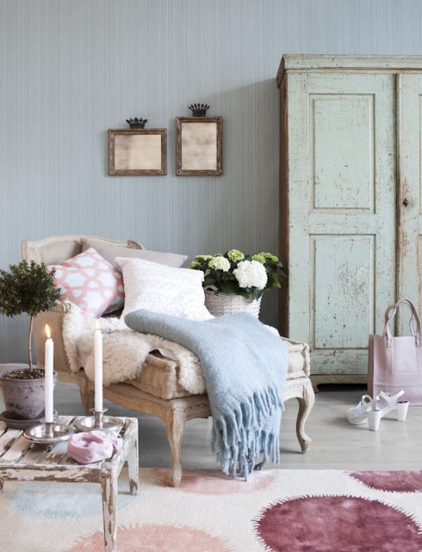 Feminine shabby chic nook ideas for your home - Cosy home deko ...