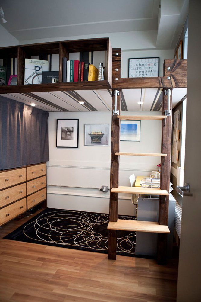 Mixing Work With Pleasure Loft Beds With Desks Underneath