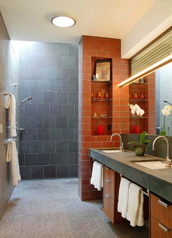 Master Bath No Shower doorless shower designs teach you how to go with the flow