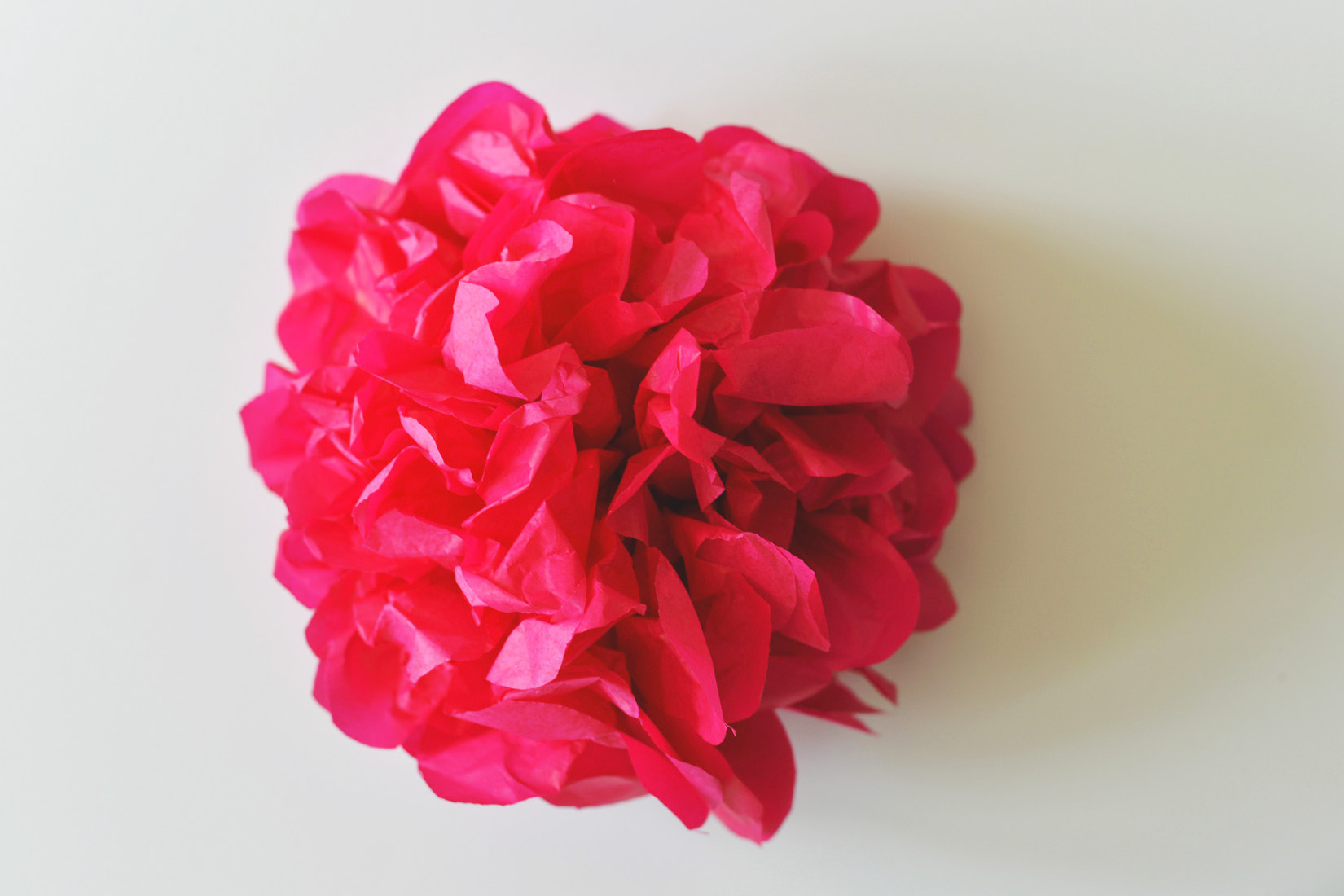 finished tissue paper flower