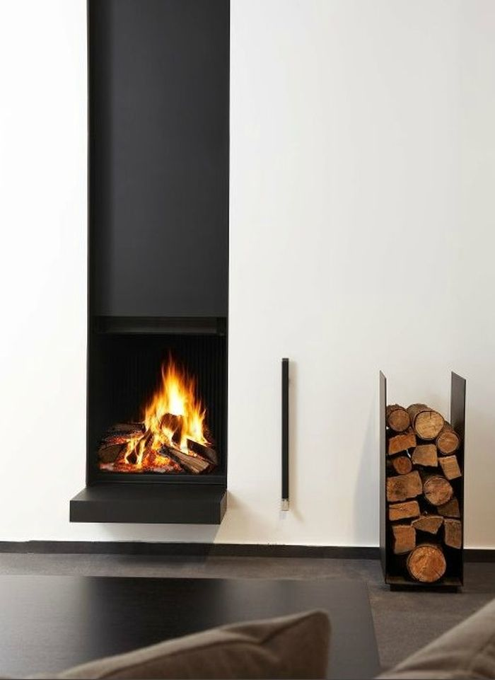 modern wood fireplace 25 cool firewood storage designs for modern homes 258