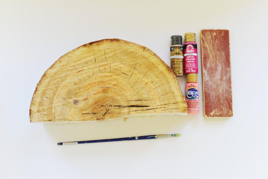 half log book end supplies