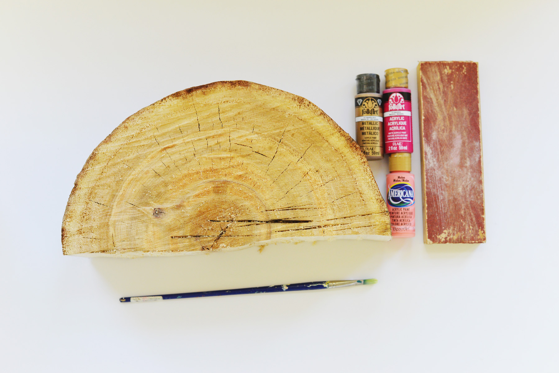 half log book end supplies