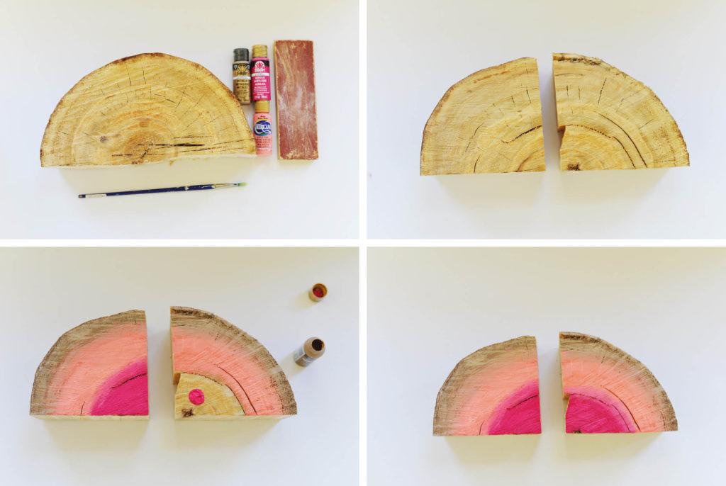 half log book ends