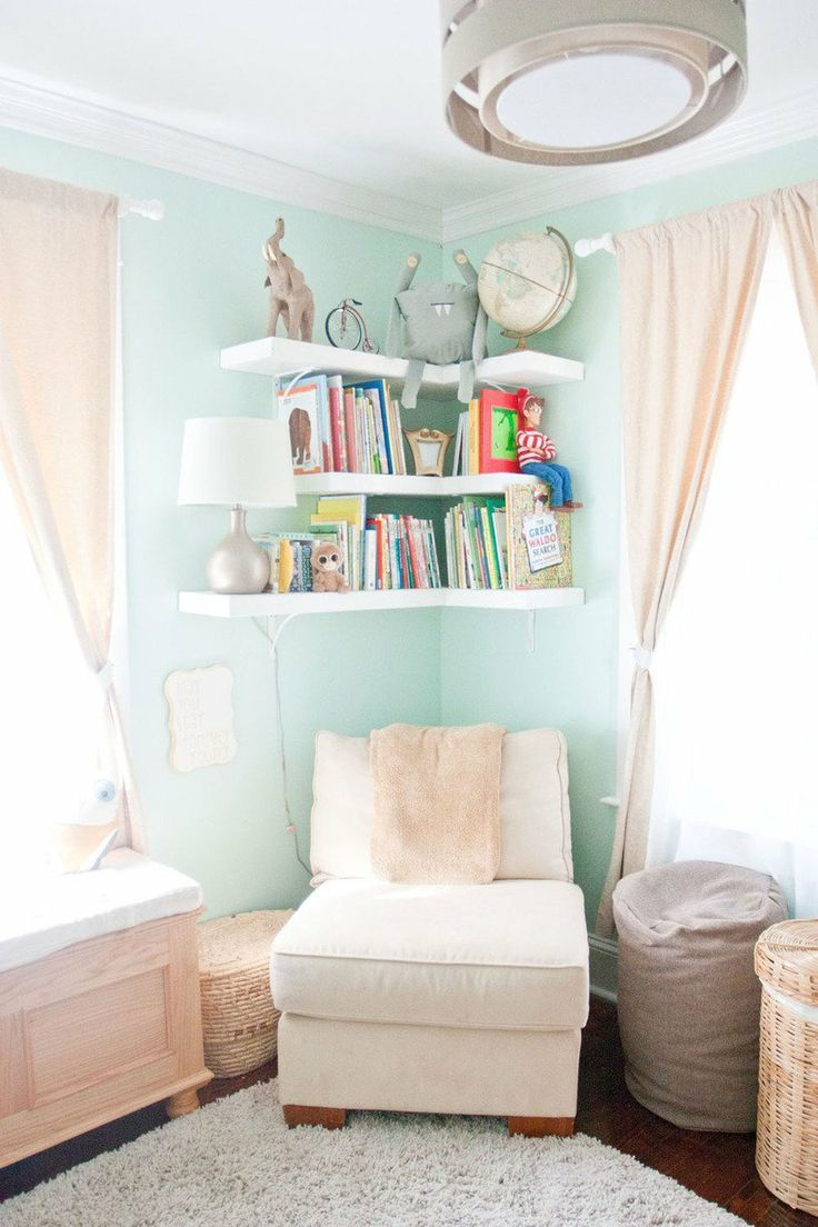 Clever ways in which a corner bookshelf can fill in the for Shelving for kids room