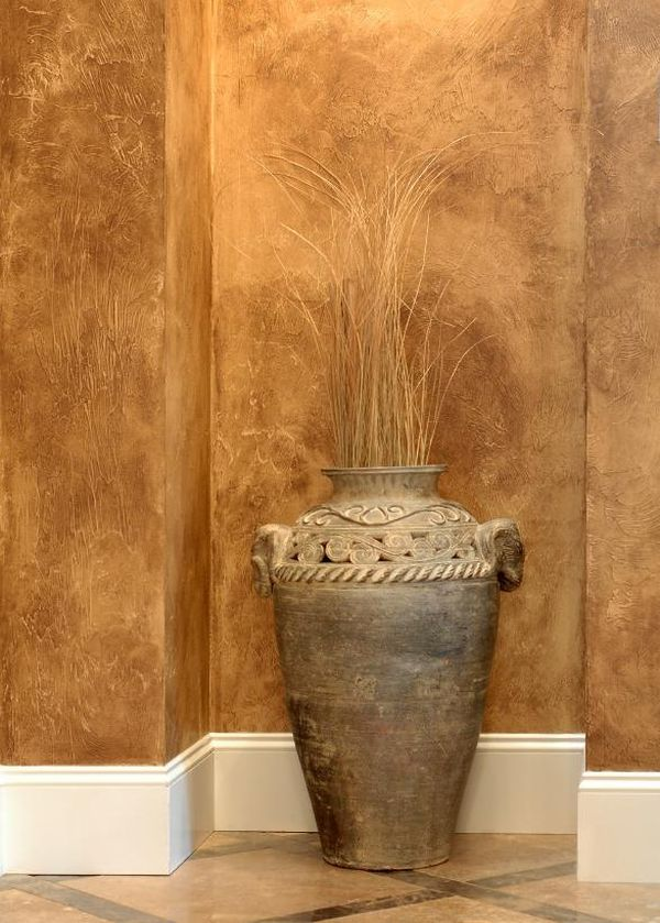 Charming Faux Painting Ideas For Walls Part - 10: Leathering.