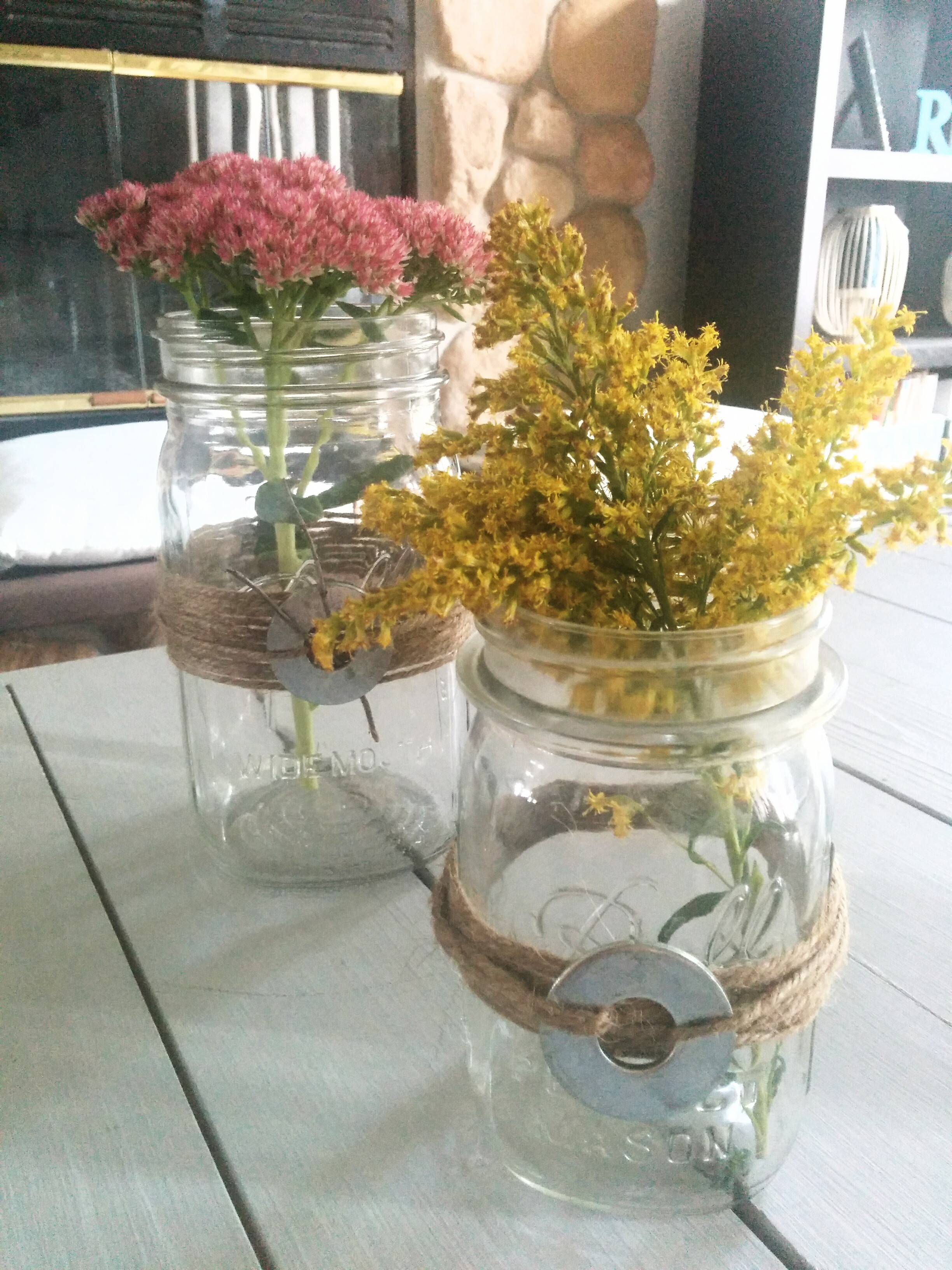 Quick Diy Mason Jars And Twine Fall Centerpieces