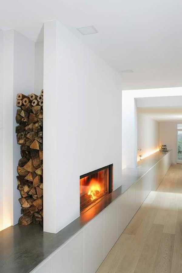 Fireplace Storage 25 cool firewood storage designs for modern homes