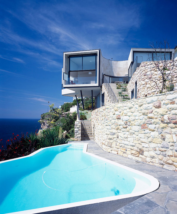 Cool houses clinging to cliffs to take in all the beauty - Maison cliff top luigi rosselli architects ...