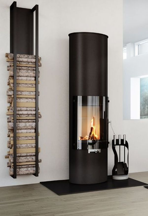 25 cool firewood storage designs for modern homes. Black Bedroom Furniture Sets. Home Design Ideas