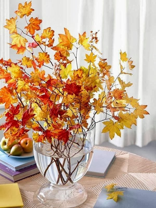 20 centerpieces for your autumn table for Pictures of fall table decorations