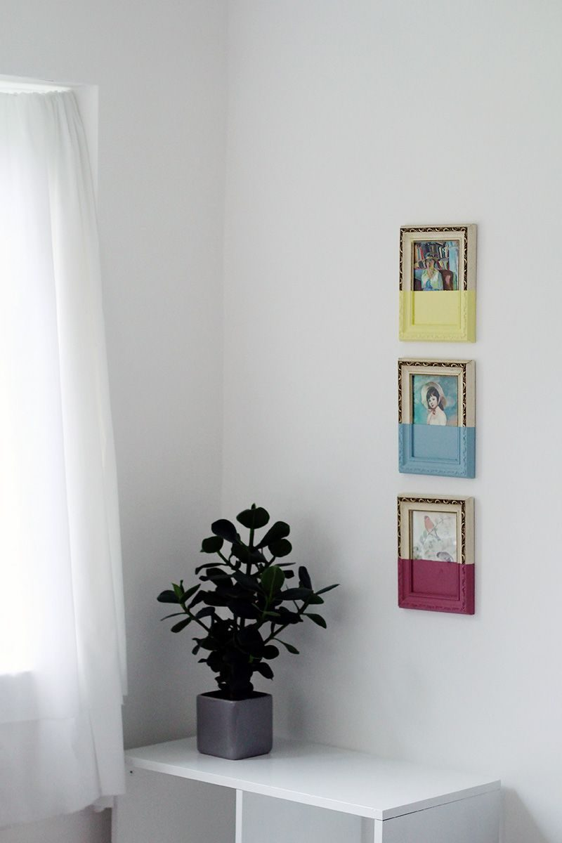 Painting Picture Frames: Dipped Style Paint
