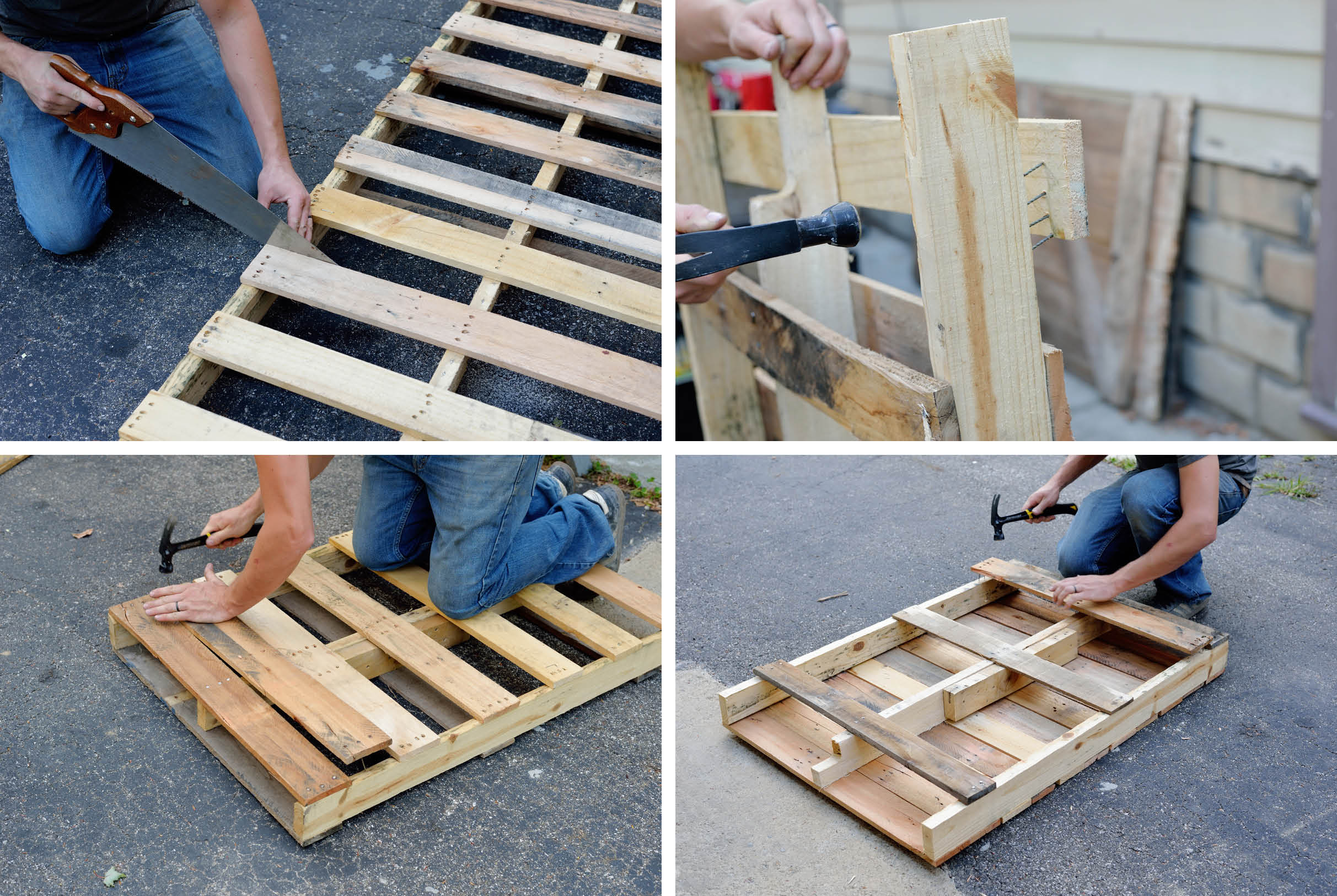 Diy pallet table with hairpin legs for Table en palette