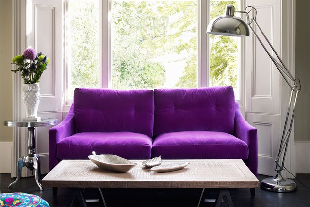 purple couch living room couches that pop in the most traditional spaces 12297