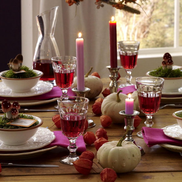 Decorated Tables Classy 30 Festive Fall Table Decor Ideas Design Decoration