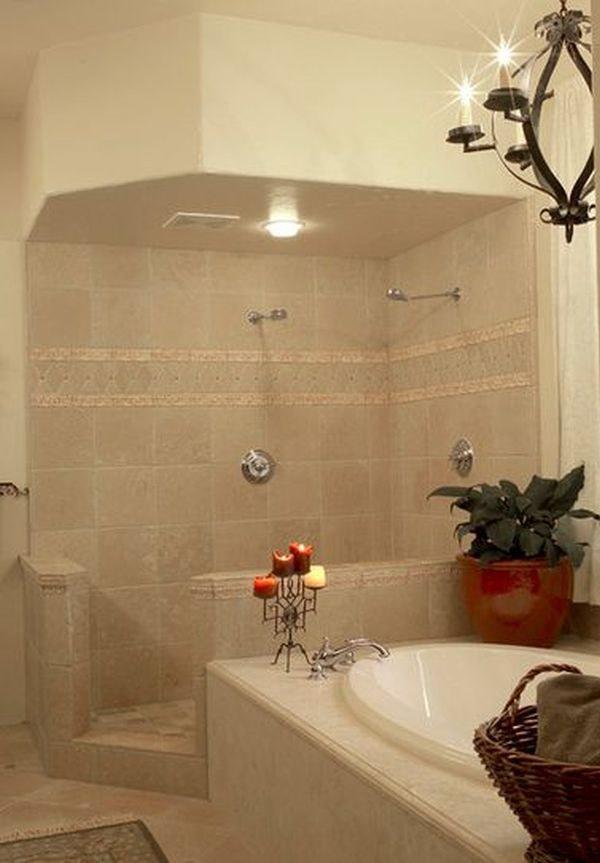 Doorless Shower Designs Teach You How To Go With The Flow on small bathroom remodel ideas, master bathroom designs, small bathroom bathtub tile ideas, small half bathroom with shower and glass walls, small standalone bathtubs, doorless shower designs,